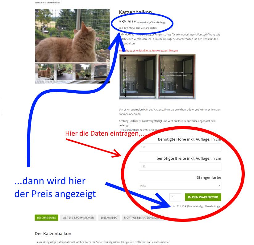 Katzenbalkon_Preisberechnung